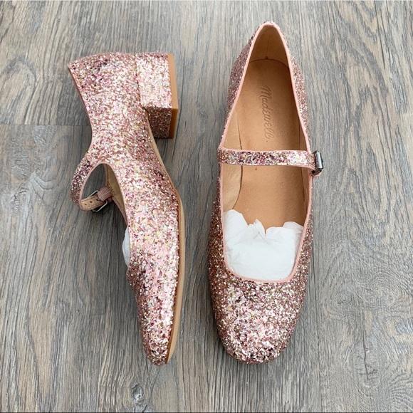 madewell mary jane glitter